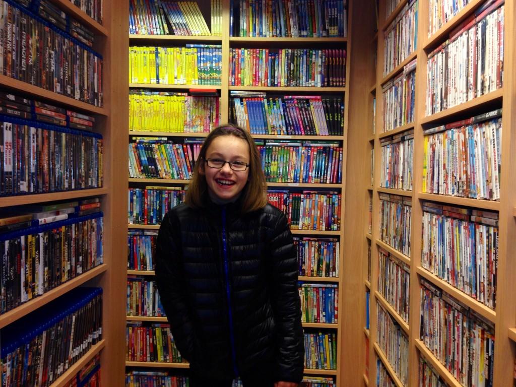 Jag i film och godis affären