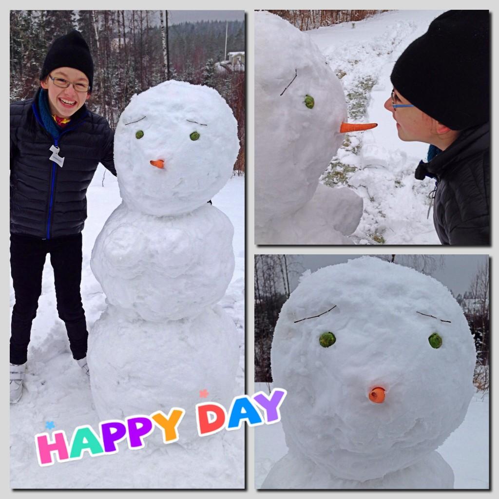 Våran snögubbe