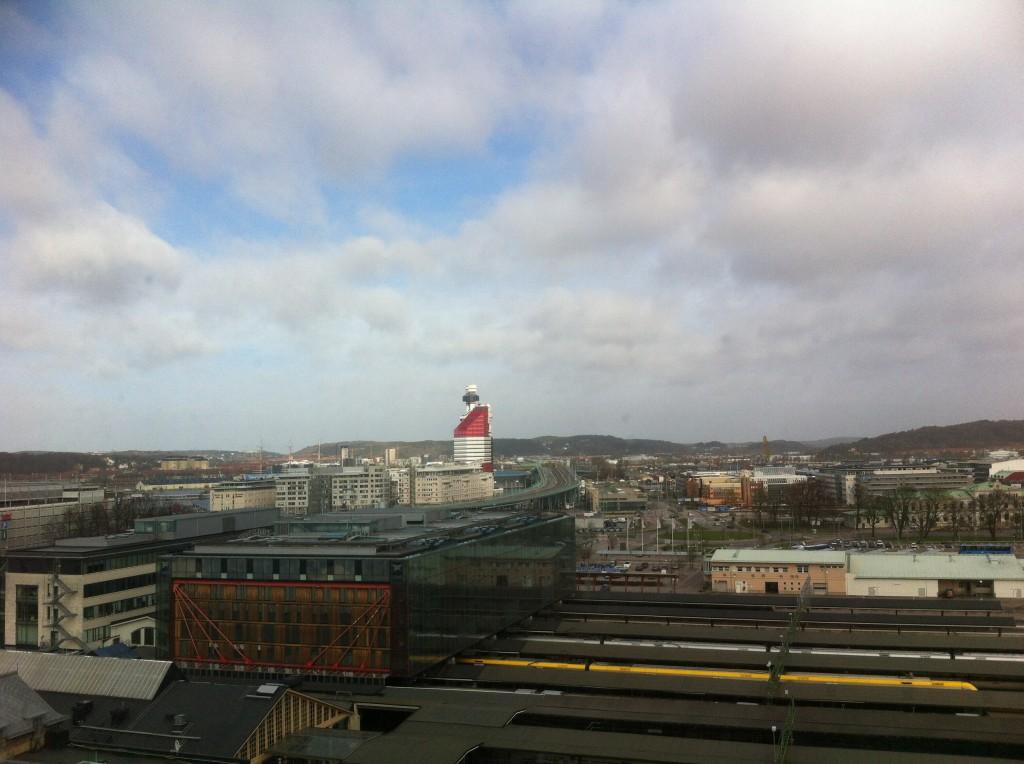 Utsikten från hotellet.
