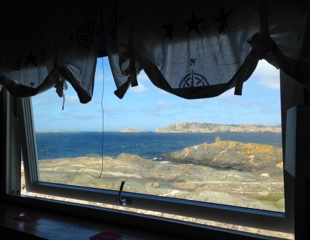 Den här utsikten hade jag från mitt rum.