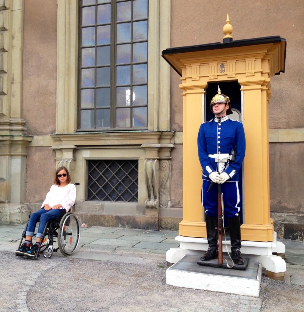 Vi var vid kungs huset, det var coolt när soldatens gick ibland.