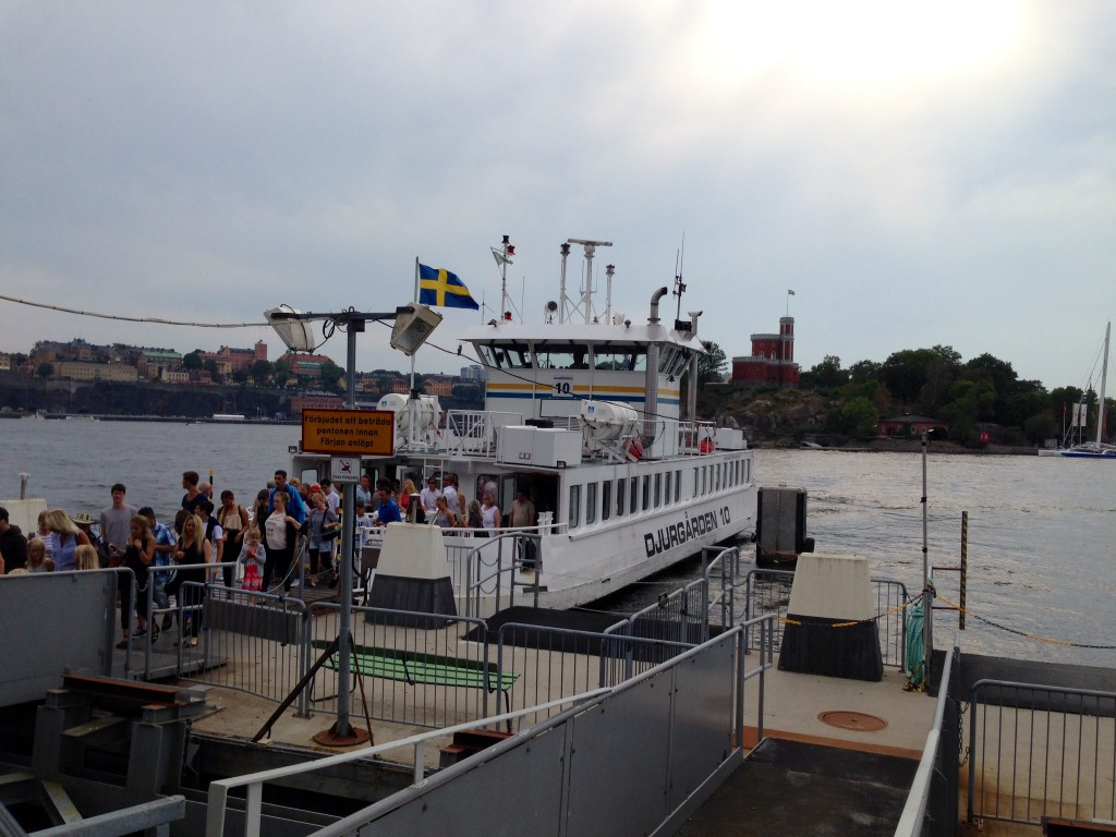 Båten över till gamla stan