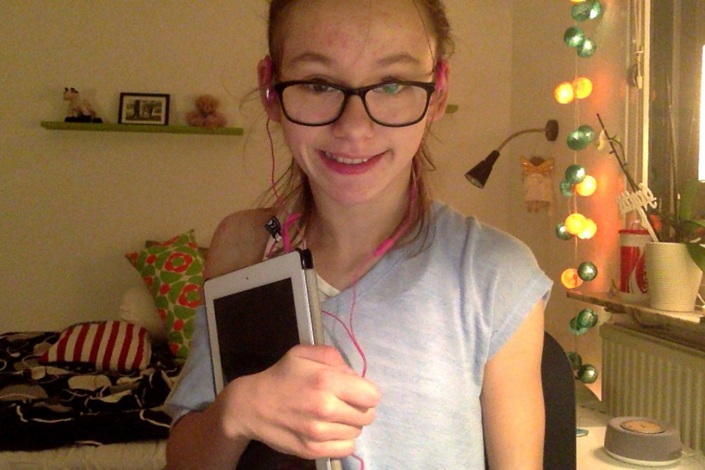 Typisk selfi-bild som finns på unga bloggar..  :)