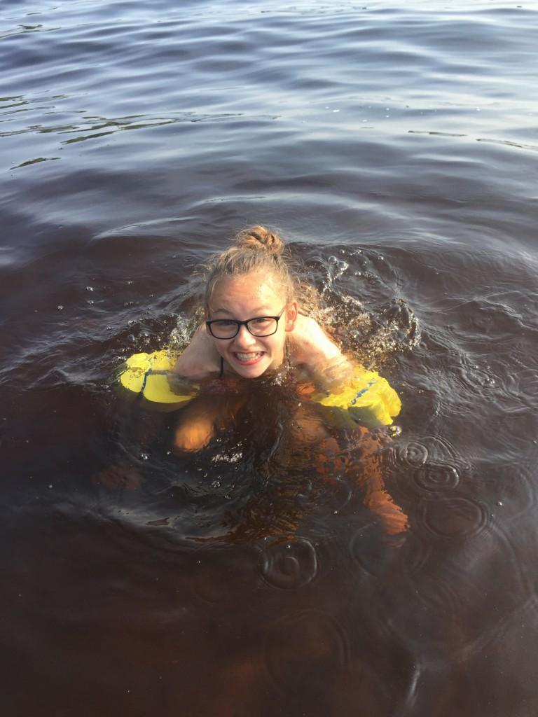 Bevis på att jag har badat :)