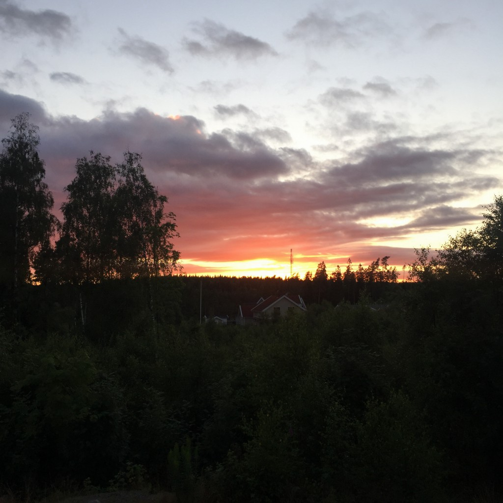 Konstigt väder, blött på marken men en fin solnedgång :)
