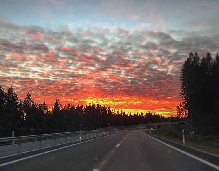 På väg hem, vackert! :)