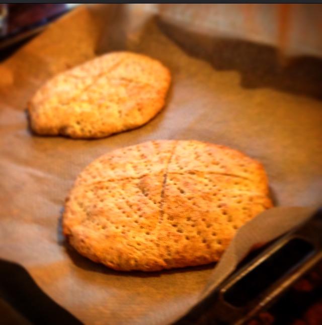 Titta vad vi hade för bröd till vår soppa idag, scones mums! <3