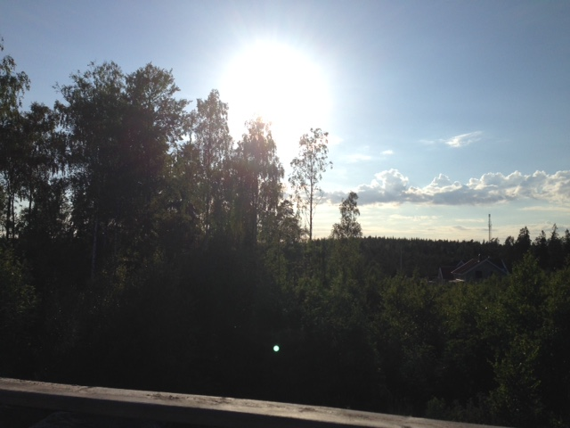 Solen går ner över Sjöhagen...