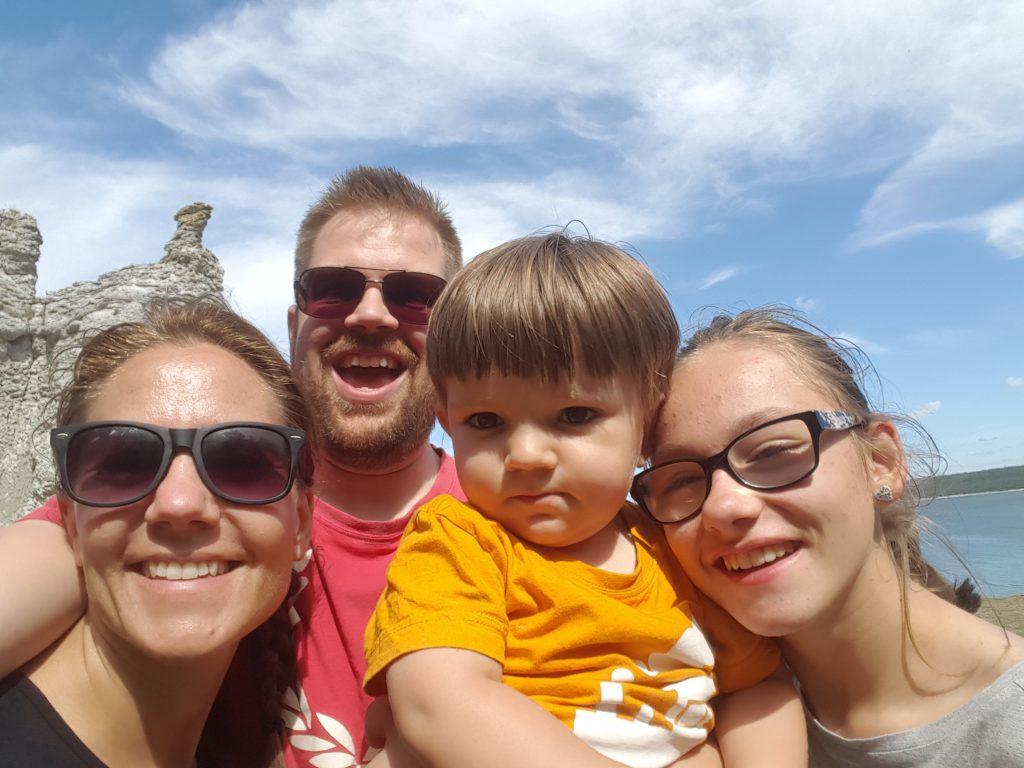 Selfie vid raukarna! :)