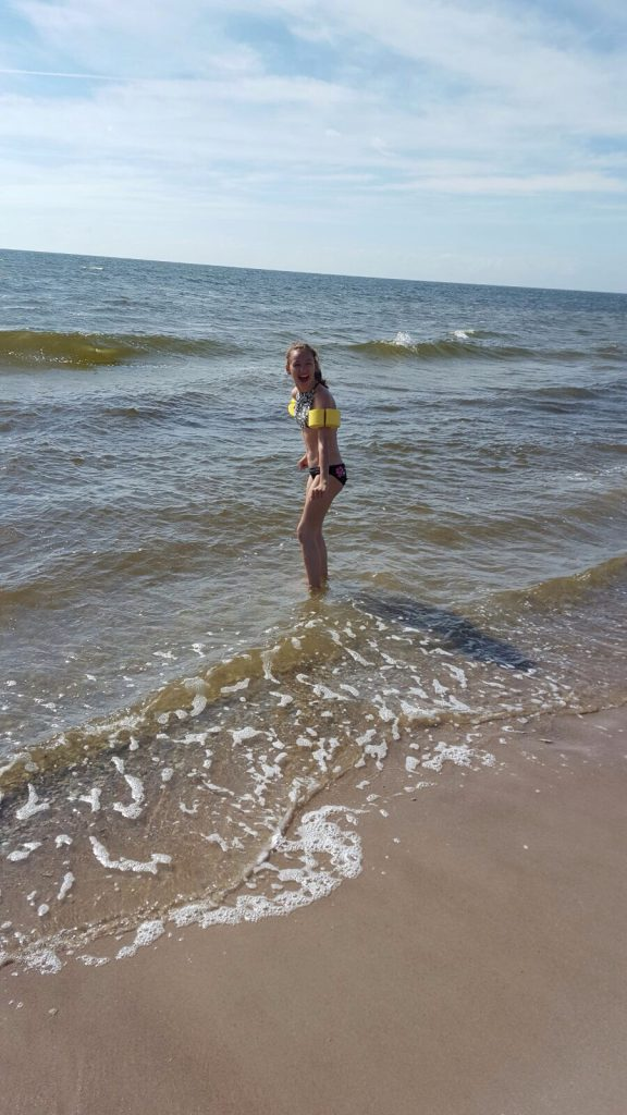 Årets första dopp i havet! :)