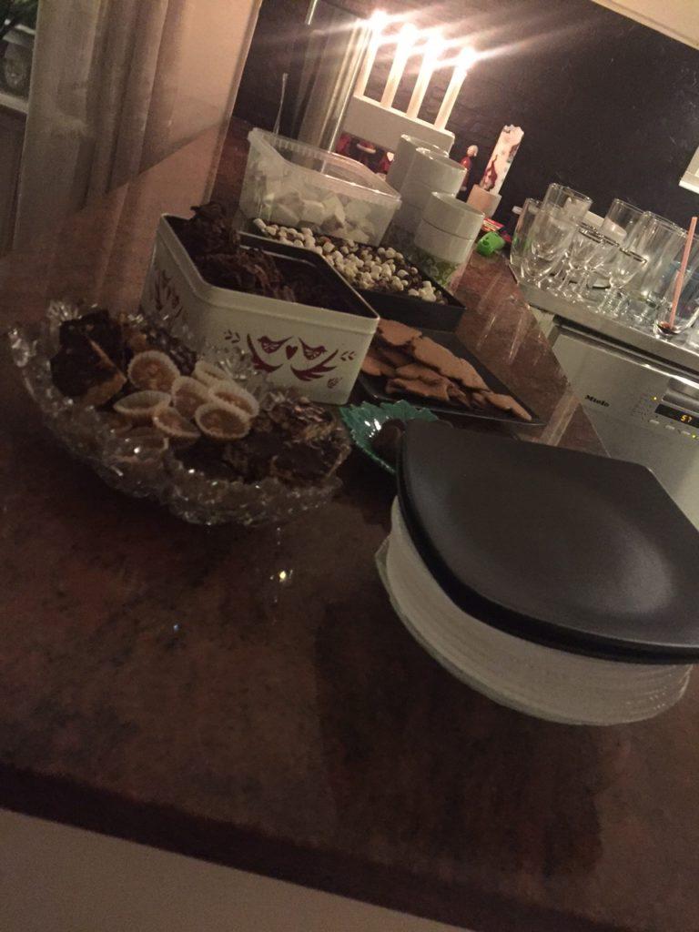 Efter paketöppningen blev det julgodis, mums! :)